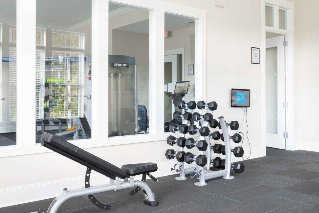 Preserve apartments in Morehead City gym