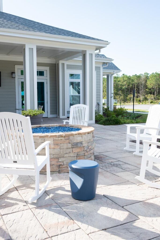 Preserve apartments in Morehead City fire pit