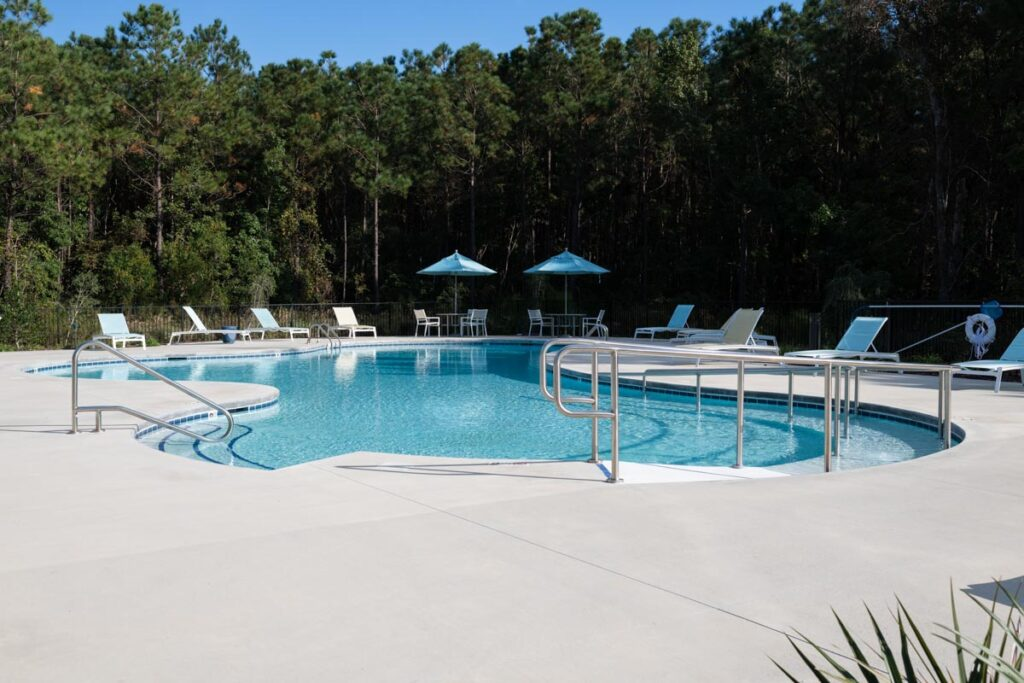 Preserve apartments in Morehead City pool