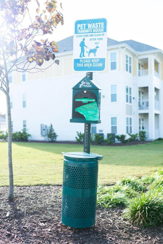 Preserve apartments in Morehead City dog park