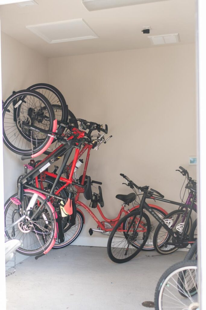Preserve apartments in Morehead City bicycle storage