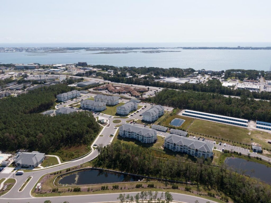 Preserve apartments in Morehead City arial view